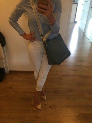 Michael Kors Hayes denim blau Gold LG Shoulder Tasche Handtasche