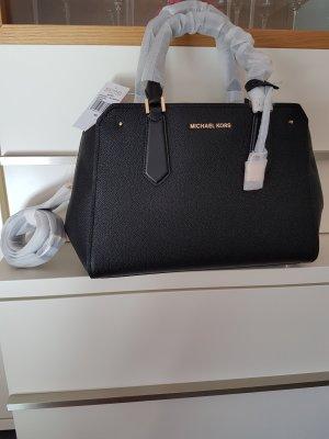 Michael Kors Hayes Handtasche Tasche schwarz gold NEU Original
