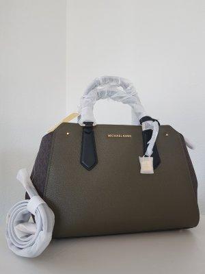 Michael Kors Hayes Olive Olivegrün Braun Handtasche Tasche Leder