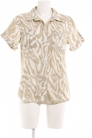 Michael Kors Hemd-Bluse weiß-creme Animalmuster Casual-Look