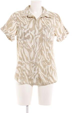 Michael Kors Blouse-chemisier blanc-crème motif animal style décontracté