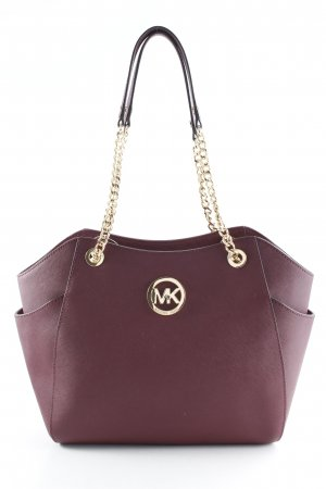 Michael Kors Henkeltasche bordeauxrot-goldfarben Business-Look
