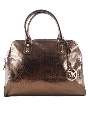 Michael Kors Carry Bag bronze-colored animal pattern wet-look
