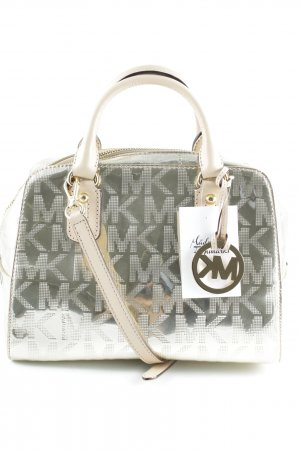 Michael Kors Carry Bag gold-colored-cream monogram pattern wet-look