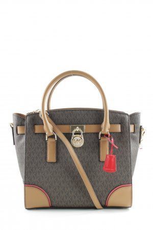 "Michael Kors Henkeltasche ""Hamilton LG EW Satchel_ Brown / Acorn / Bright Red"""