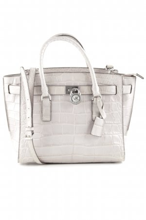 Michael Kors Henkeltasche hellgrau Animalmuster Business-Look