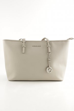"Michael Kors Sac Baril ""Jet Set Travel "" gris clair"