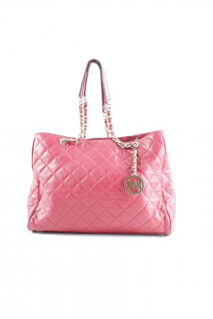 Michael Kors Carry Bag carmine-gold-colored check pattern casual look