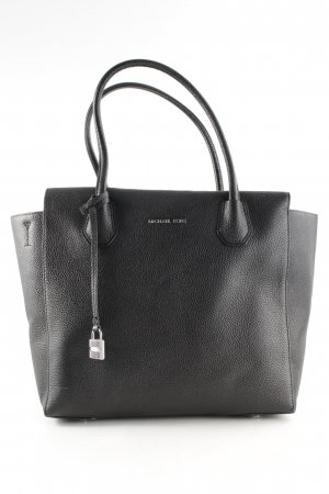 "Michael Kors Borsa con manico ""Mercer LG Leather Satchel Black"" nero"