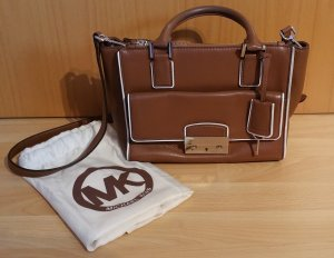 Michael Kors Carry Bag brown-white leather