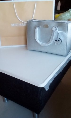 Michael Kors Carry Bag silver-colored leather