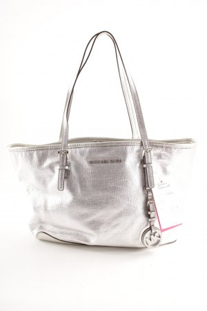 Michael Kors Carry Bag silver-colored wet-look