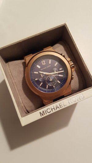 Michael Kors Orologio analogico color oro rosa-blu scuro