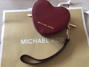 Michael Kors Herzförmige Geldbörse Leder Neu