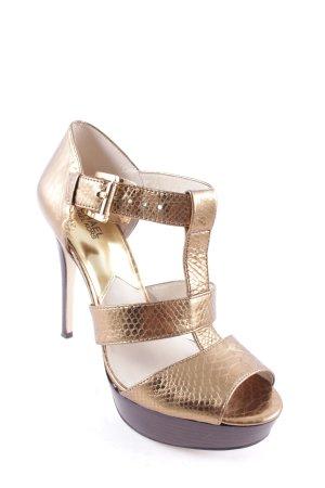 Michael Kors High Heel Sandal gold-colored-dark brown animal pattern party style