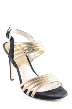 Michael Kors High Heel Sandaletten goldfarben-schwarz Elegant