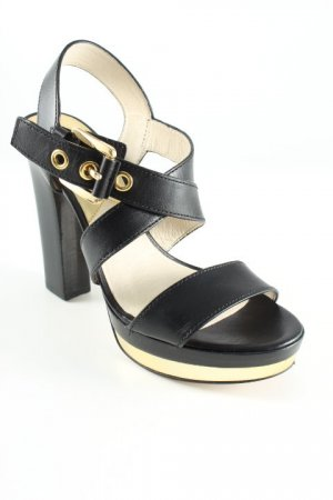 Michael Kors High Heel Sandal black-gold-colored party style