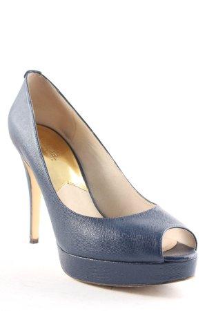Michael Kors High Heels dunkelblau-goldfarben Elegant