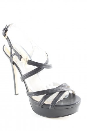Michael Kors High Heels schwarz-creme Party-Look