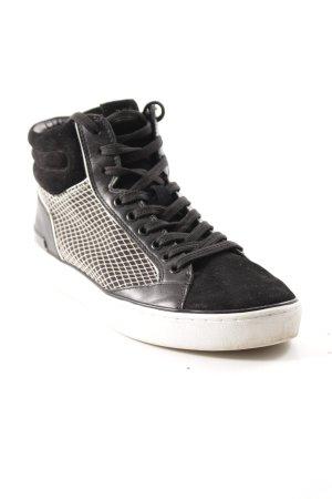 Michael Kors High Top Sneaker black-white material mix look