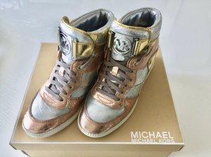 Michael kors High wedge sneaker metallic Gr 38 Np 350€