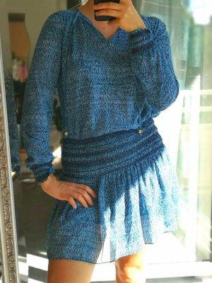 Michael Kors Robe Hippie bleu fluo-blanc