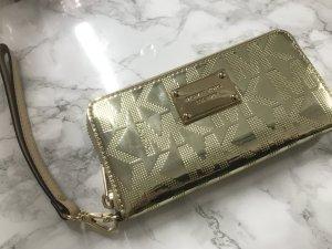 Michael Kors iPhone 6 / 6S Wallet Geldbörse Portemonnaie Cover Hülle Gold Clutch Metallic