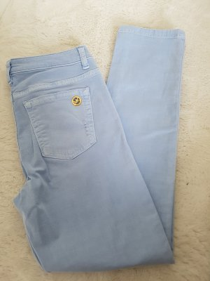 MICHAEL KORS Izzy Cropped Skinny, Gr.2, Destroyed-Look, himmelblau,