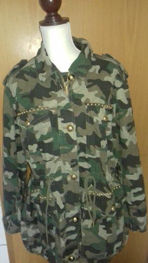 Michael Kors Chaqueta militar caqui-beige