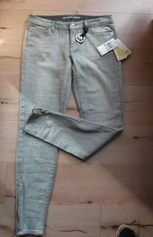 Michael Kors Jeans skinny argento-grigio Cotone