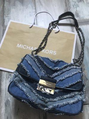 Michael Kors Jeans Leder Tasche Modell Sloan 350€