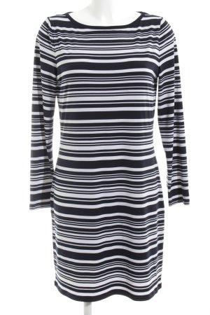 Michael Kors Jerseykleid schwarz-weiß Streifenmuster Casual-Look
