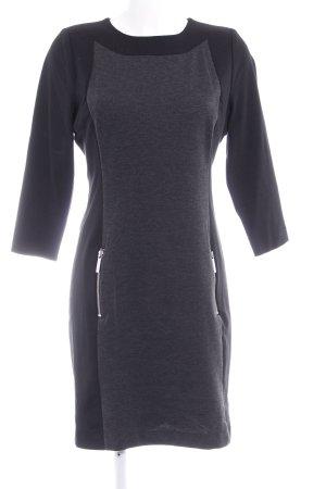Michael Kors Jerseykleid schwarz-dunkelgrau meliert Business-Look