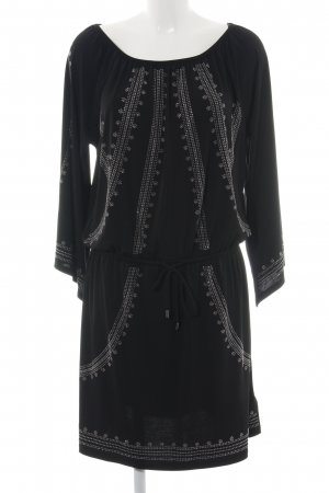 Michael Kors Jerseykleid schwarz grafisches Muster Casual-Look