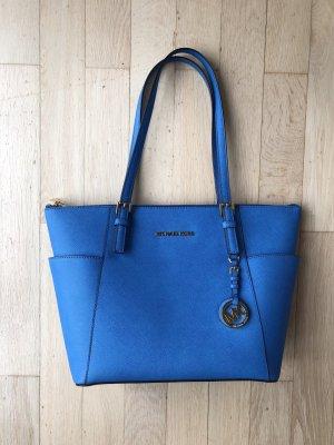 Michael Kors Jet Set Handtasche blau gold