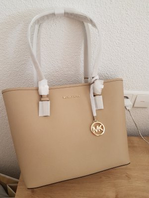 Michael Kors Jet Set Shopper Tasche bisque beige gold NEU Leder