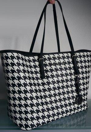 Michael Kors Shopper noir-blanc cuir