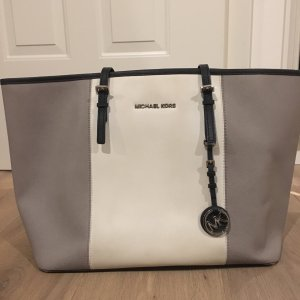 Michael Kors Shopper wit-grijs