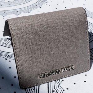 Michael Kors Jet Set Travel Flap Card Holder Leather grau/Silber