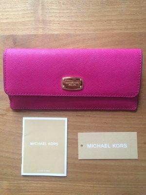 Michael Kors Jet Set Travel Flat Wallet Raspberry // Pink