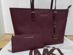 Michael Kors Jet Set Travel & Geldbörse weinrot / bordeaux