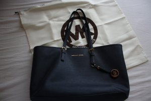 Michael Kors Carry Bag dark blue-gold-colored leather