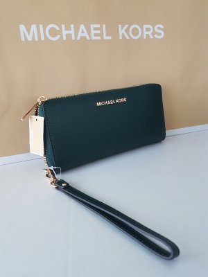 Michael Kors Jet Set Travel racing green dunkelgrün gold Neu Leder