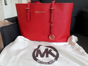 Michael Kors Jet Set Travel Tote in leuchtendem Rot