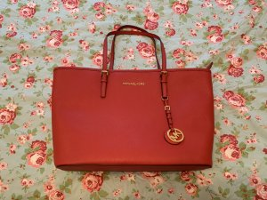 Michael Kors Jet Set Travel TZ Tote Red