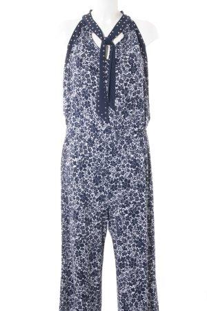 Michael Kors Jumpsuit weiß-dunkelblau Blumenmuster Casual-Look