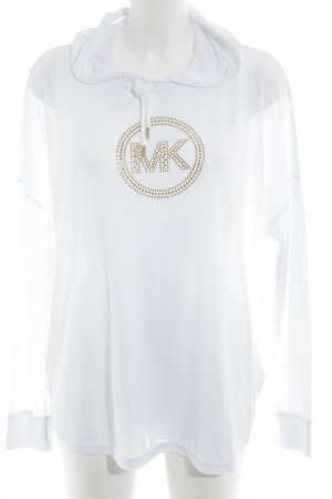 Michael Kors Jersey con capucha blanco-color oro look casual