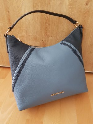 Michael Kors Karson Denim Navy Blau Tasche Handtasche Neu