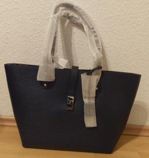 Michael Kors Karson neu Shopper navy dunkel blau silber tasche