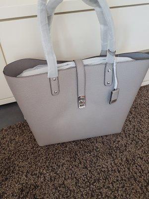 Michael Kors Karson Pearl Grey Shopper Handtasche Neu Tasche grau silber